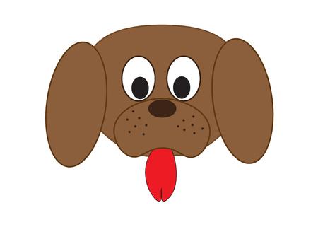 fullface: Dogs muzzle. Vector illustation. Illustration