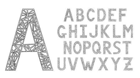 design: English alphabet. Modern design font.