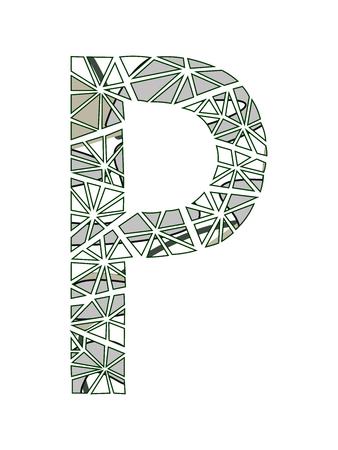 Letter P logo flower design.