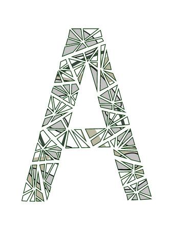 Letter A logo flower design.
