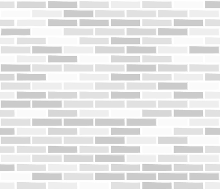 Brick wall white seamless texture. Illustration