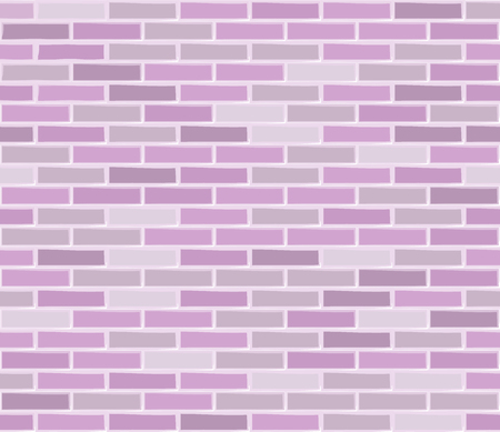 Brick wall pink seamless texture. Illustration