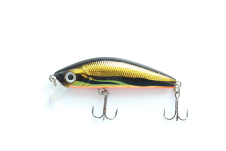Wobbler. Lure with hooks. Stock Photo