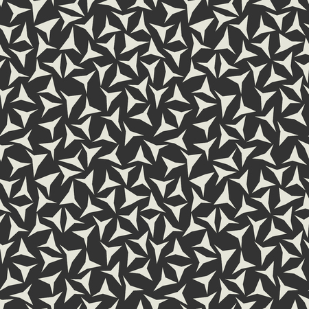 Abstract background, seamless texture. Soft tone beige colous triangles on brown black background.