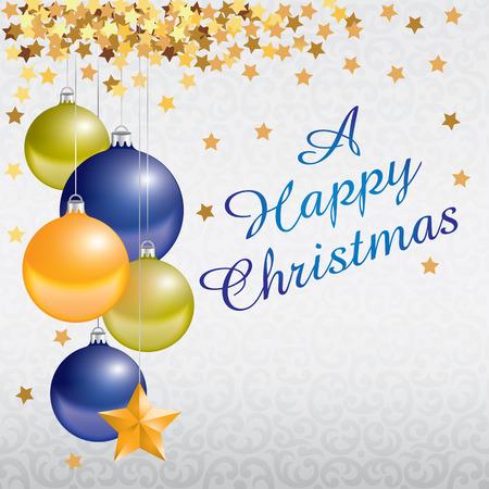 Joyeux Joyeux Noël et Nouvel An carte de voeux - illustration Vecteurs