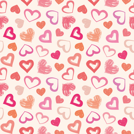 Love theme hearts valentines day seamless pattern wallpaper background illustration
