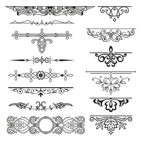 Decorative elements for design invitations, frames, menus Ilustracje wektorowe