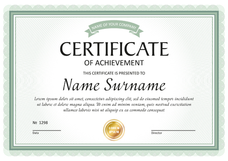 Certificaatsjabloon, cadeaubon, diploma, vintage rand