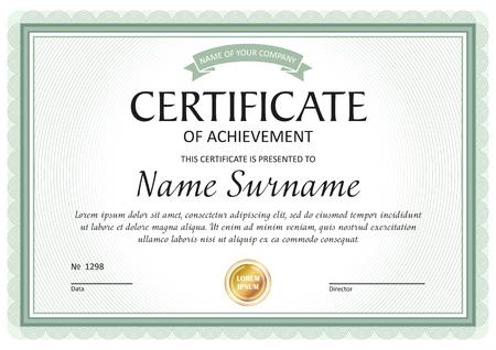 Zertifikatsvorlage, Geschenkgutschein, Diplom, Vintage-Grenze