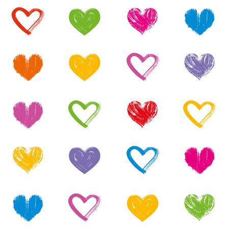 Love theme hearts valentines day seamless pattern wallpaper background illustration 3 Ilustração