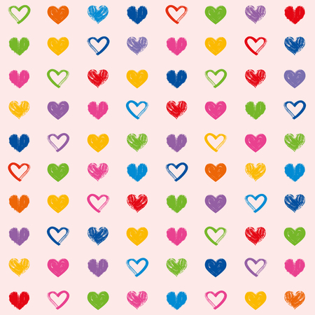 Love theme hearts valentines day seamless pattern wallpaper background illustration 4