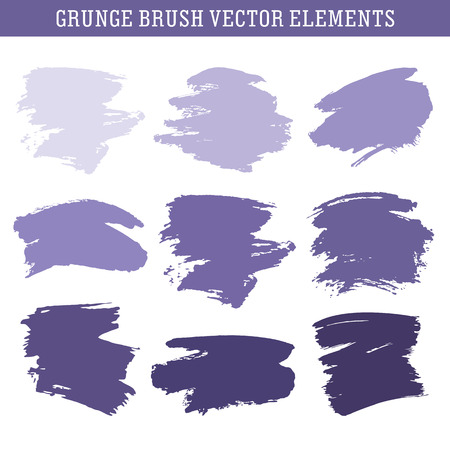 Set of hand drawn grunge brush texture elements, vector backgrounds for text Ilustração