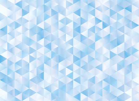 Abstract geometric blue background. Hipster triangular mosaic backrop Ilustração