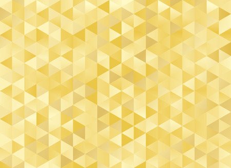 Abstract geometric gold background. Hipster triangular mosaic backrop