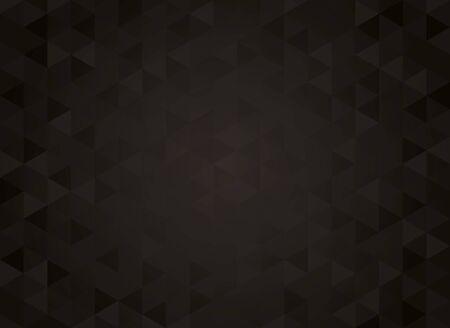 Abstract geometric black background. Hipster triangular mosaic backrop Ilustração