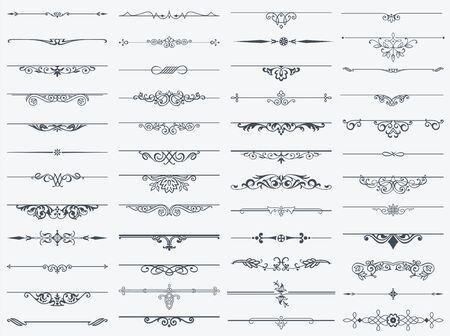 Diviseurs d'éléments décoratifs pour les invitations de conception, les cadres, les menus, le texte