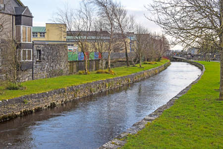 River Corrid passing through th beautiful city of Galway, Ireland