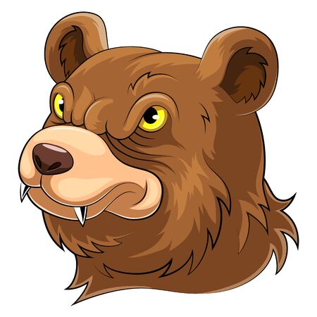 A cartoon bear head Mascot