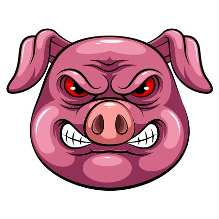 A cartoon mascot Head of an pig
