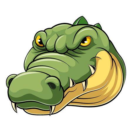 A cartoon mascot Head of an crocodile Illustration