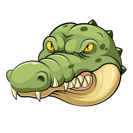 illustration of crocodile head mascot Stock Photo