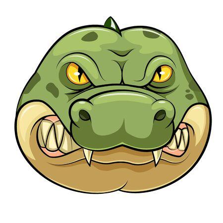 illustration of Crocodile wild animal head mascot