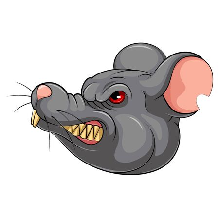 illustration of Mascot Head of an mouse