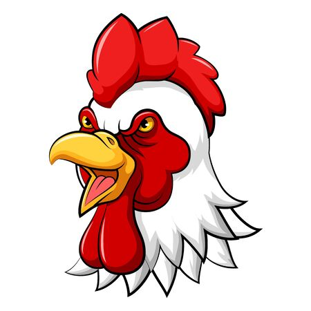 illustration of angry rooster head mascot Reklamní fotografie