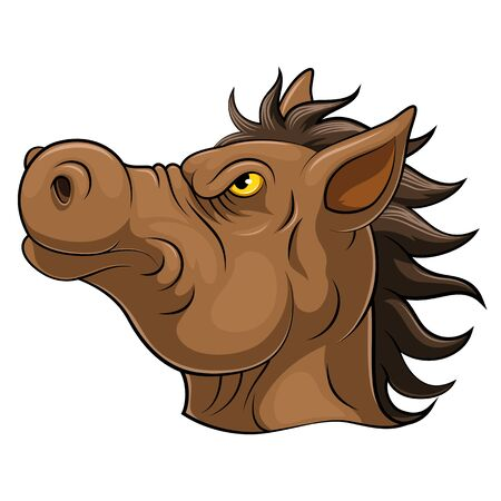 illustration of Head of an horse cartoon Reklamní fotografie