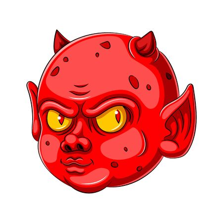 illustration of A baby devil cartoon character