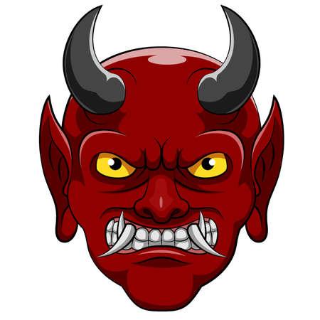 A devil cartoon character of illustration