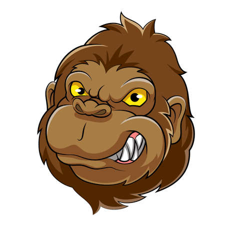 Gorilla Head Mascot of Illustration Illustration