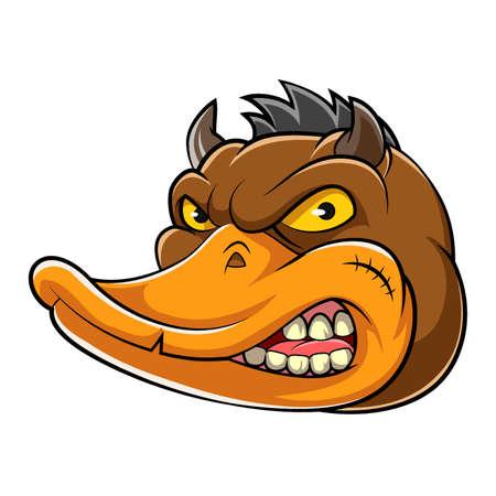 animal evil duck mascot of illustration