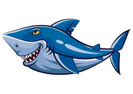 Great white shark mascot of illustration