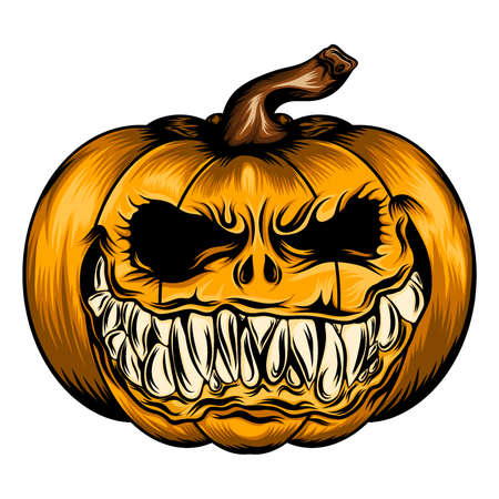 The tattoo animation of scare pumpkin for the Halloween season