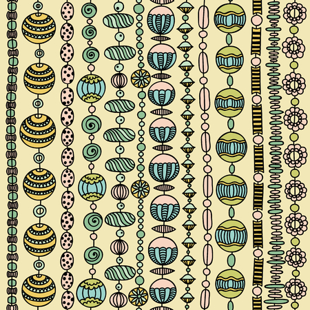 colorful beads: Seamless vector pattern with colorful beads Illustration