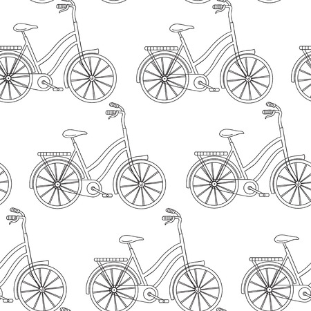 wall hanging: Vector seamless pattern with bicycle. Can be used for desktop wallpaper or frame for a wall hanging or poster,for pattern fills, surface textures, web page backgrounds, textile and more.