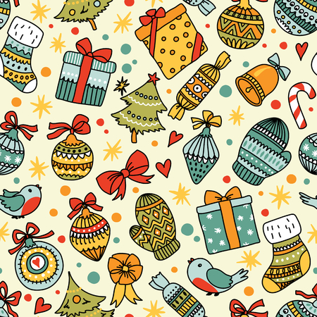 wall hanging: Christmas seamless pattern. Can be used for desktop wallpaper or frame for a wall hanging or poster, surface textures, web page backgrounds, textile and more.