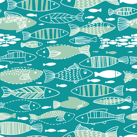 underwater fishes: Underwater seamless pattern with fishes. Seamless pattern can be used for wallpapers, web page backgrounds