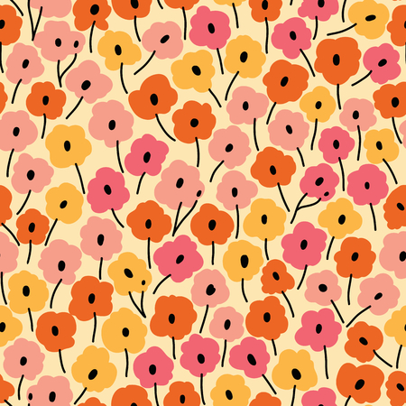 flower meadow: Seamless floral pattern. Flowers texture