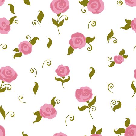 retro wallpaper: Vector seamless rose pattern