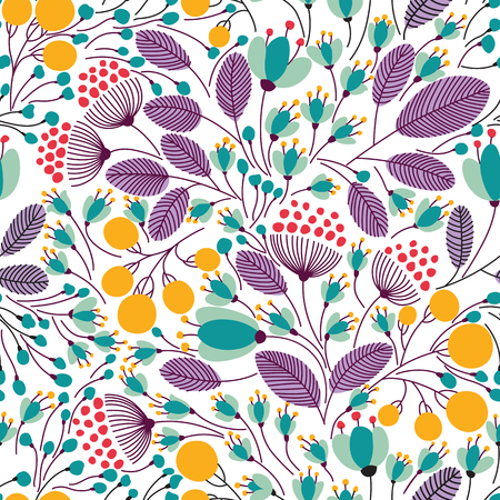 花のベクトル図とエレガントなシームレス パターン