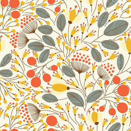 Elegant seamless pattern with flowers, vector illustration Ilustração