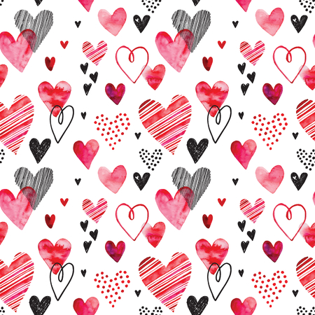 Heart pattern, vector seamless background. Can be used for wedding invitation, card for Valentine's Day or card about love.