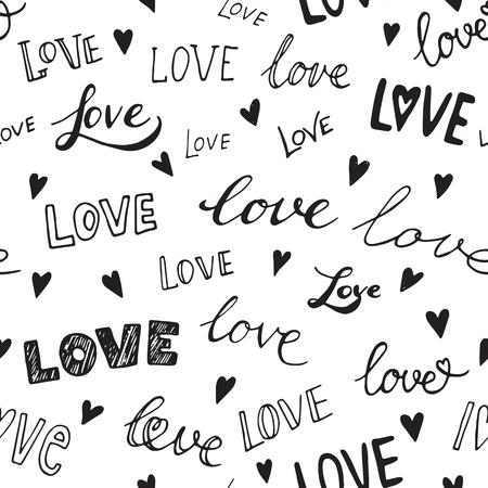 modelo del corazón, vector de fondo sin fisuras. Puede ser utilizado para la invitación de boda, tarjeta para el Día de San Valentín o tarjeta de amor. Ilustración de vector