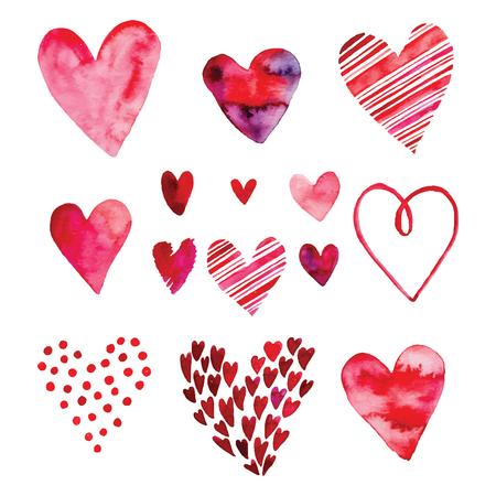 set cuore, icone vettoriali per la progettazione. Può essere usato per invito di nozze, carta per San Valentino o carta d'amore.
