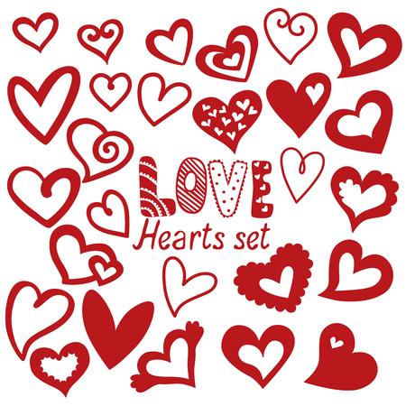 Ensemble de coeur, icônes vectorielles pour votre conception. Peut être utilisé pour l'invitation de mariage, carte pour la Saint-Valentin ou carte sur l'amour. Banque d'images - 54756169