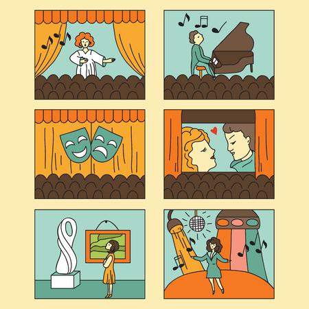 entertainment icon: Entertainment icon set. Vector illustration