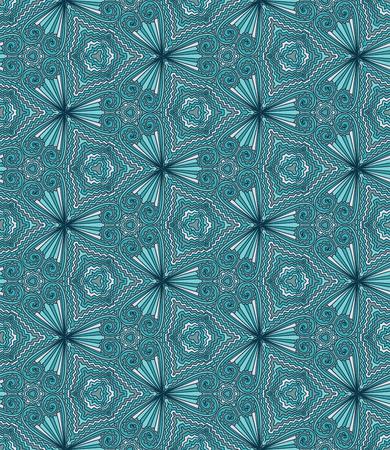kaleidoscope: Geometric abstract vector seamless pattern. Kaleidoscope