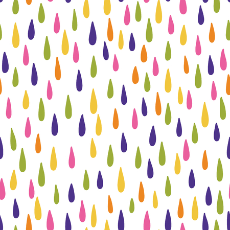 Seamless vector pattern with raindrops
